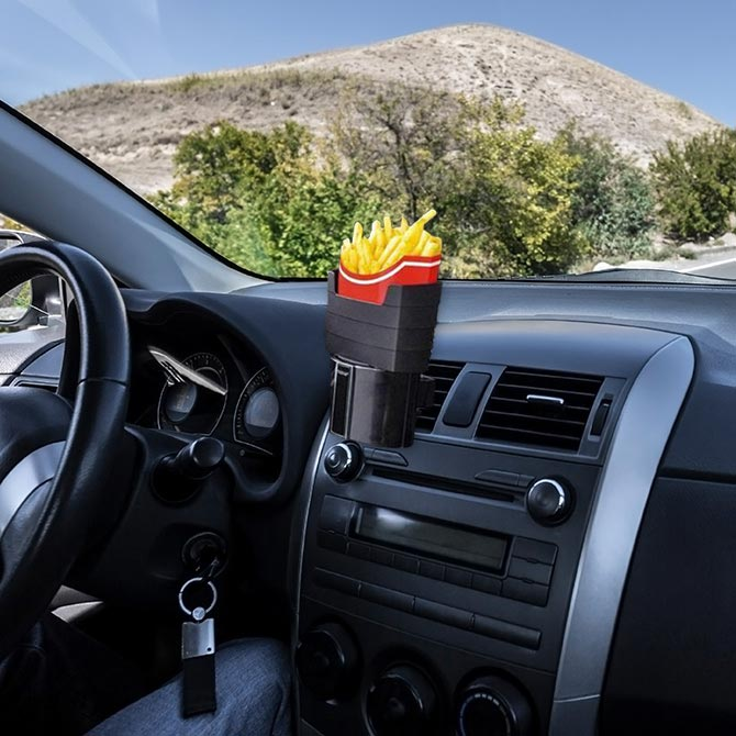 In-car French Fry Holder