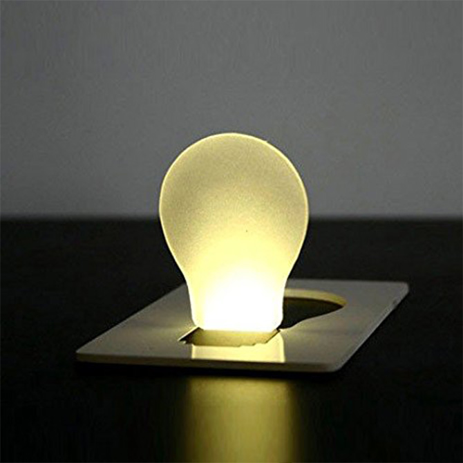Portable Light Card
