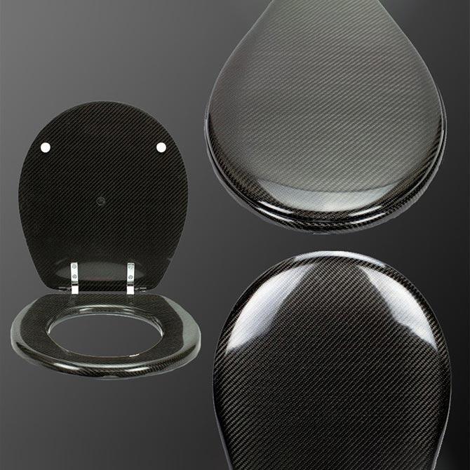 carbon fibre toilet seat